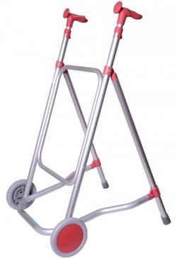 Diresa Device - FedBuy: Andador de aluminio con ruedas   Modelo Forta Car   Color Rosa