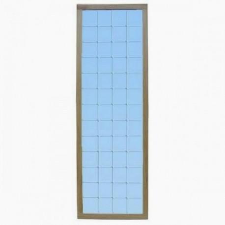 Diresa Device - FedBuy: Espejo fijo de luna cuadriculada. Anclaje a pared.
