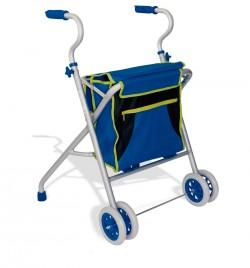 Andador de aluminio   Ruedas delanteras   Incluye bolsa portaobjetos   Los mejores andadores al mejor precio en Diresa Device
