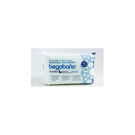 Esponja Begobaño BS-1 Sensitive   Fabricada en foam   Gel incorporado   4000 unidades   Diresa Device - FedBuy
